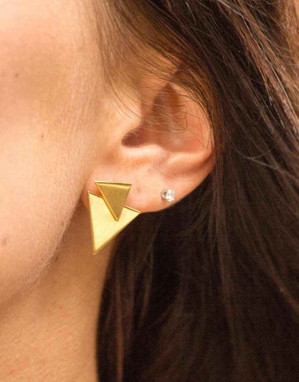one necklace chevron earrings