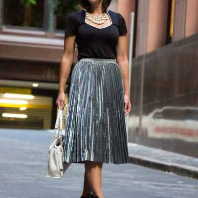 Pearls, Bows & Metallic Skirts