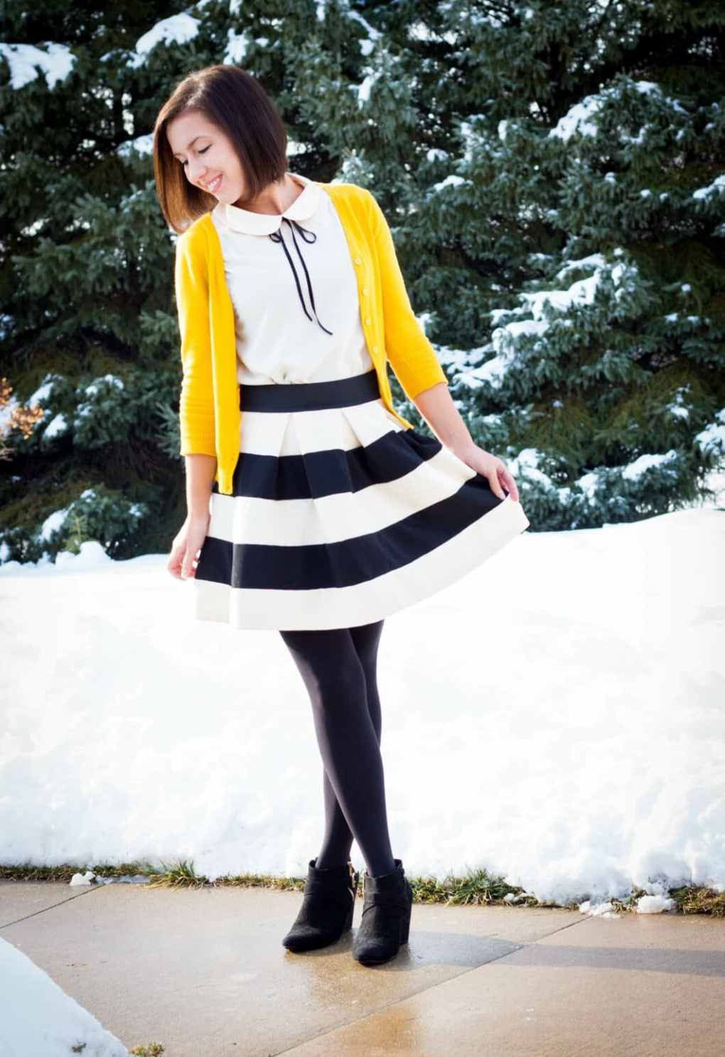 ModCloth striped skirt