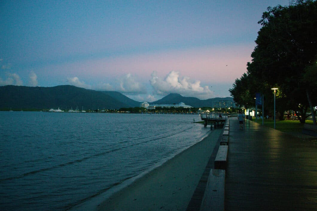 cairns at sunset