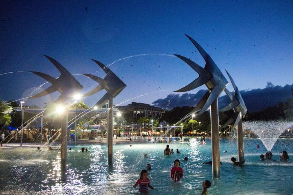 """""""Woven Fish"""" sclupture in Cairns."""