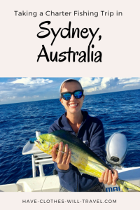 taking a charter fishing trip in Sydney, Australia