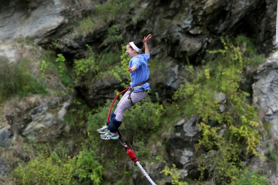 Bungy Jumping in New Zealand at the World's 1st Bungy Jump Bridge