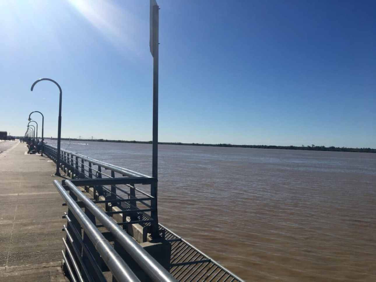 The Paraná River in Rosario.