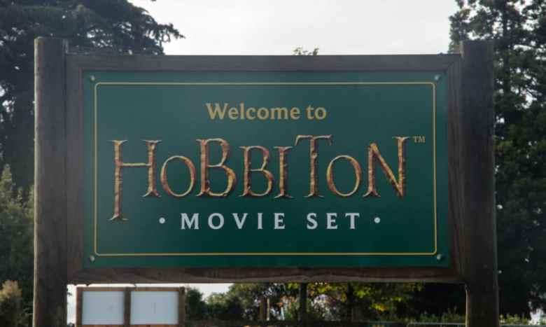 Hobbiton movie set sign