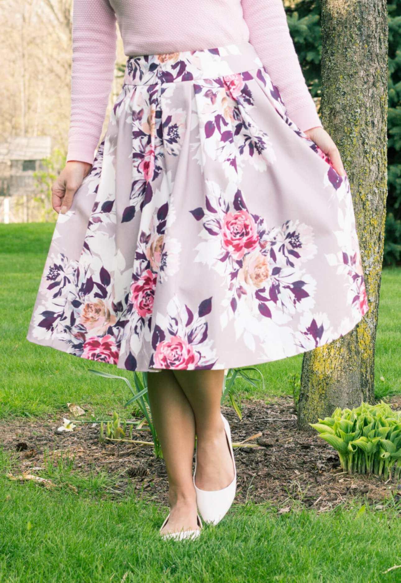 Review Australia floral midi skirt