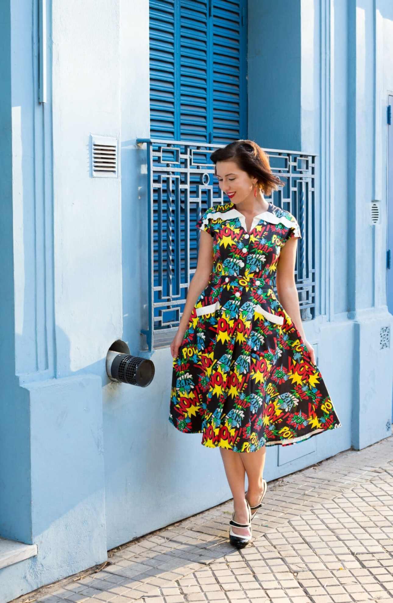 Unique Vintage pop art dress