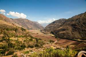 """A view of """"The Sacred Valley"""" in Peru."""