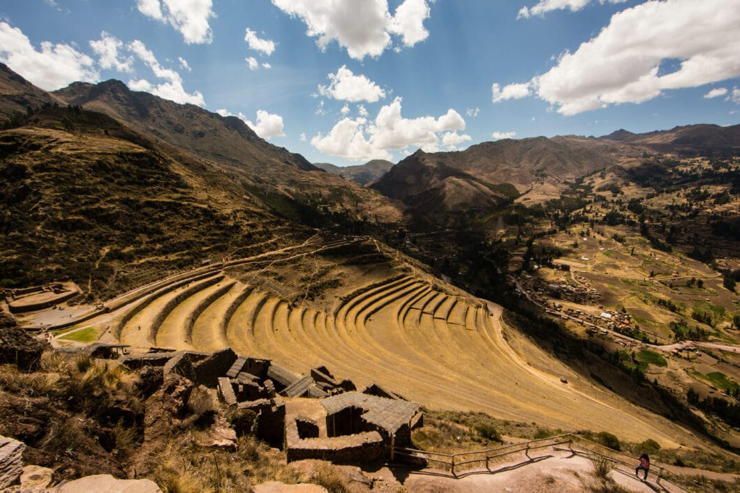 Inca Terraces in Pisac, Peru