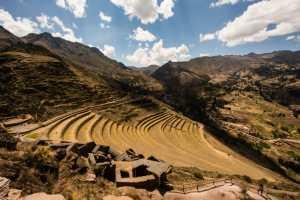 Inca Terraces in Pisac, Peru
