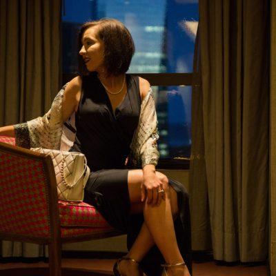 Silk Scarf+ Little Black Dress for Rojo Tango Show