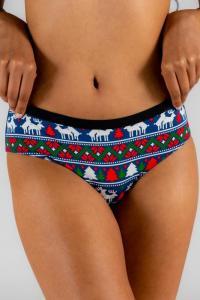 The Caribou Lous Womens Navy Mating Reindeer Cheeky Underwear