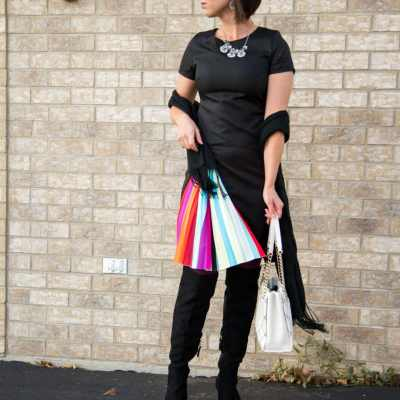 Rainbow, Pleated Dress Outfit Remix for NYE
