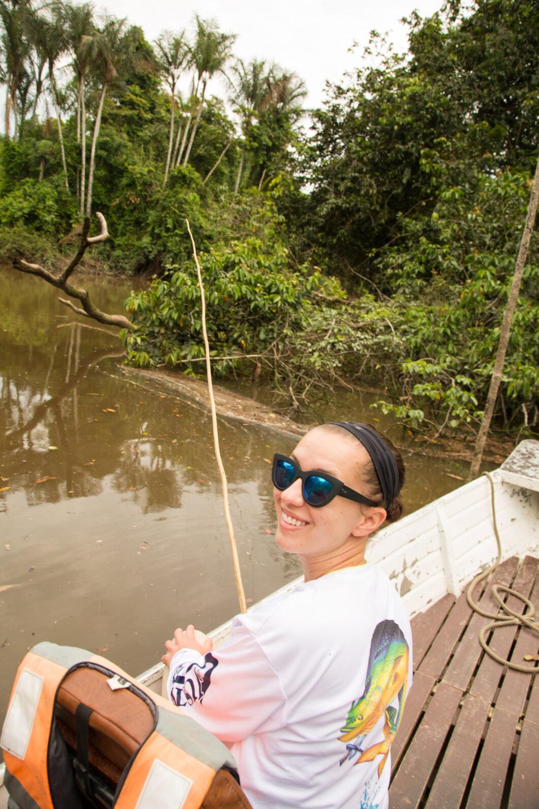 Fishing in the Amazon Rainforest