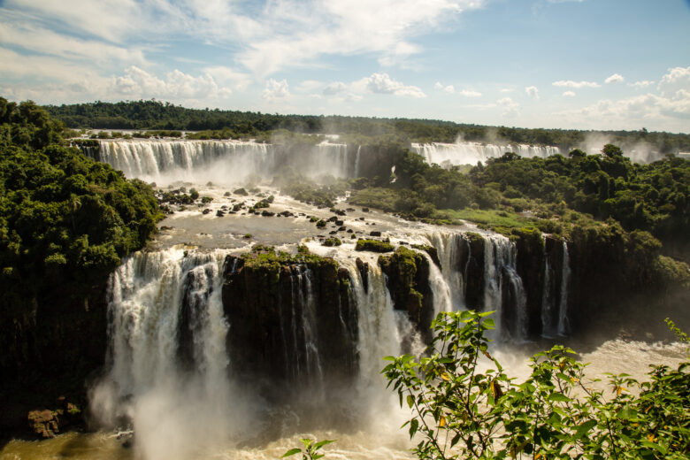 A view from the Brazilian side of Iguazu Falls.