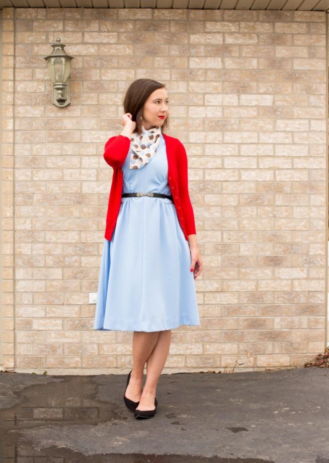 Accessorizing vintage dress