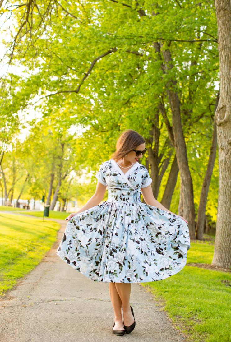 Unique Vintage floral dress