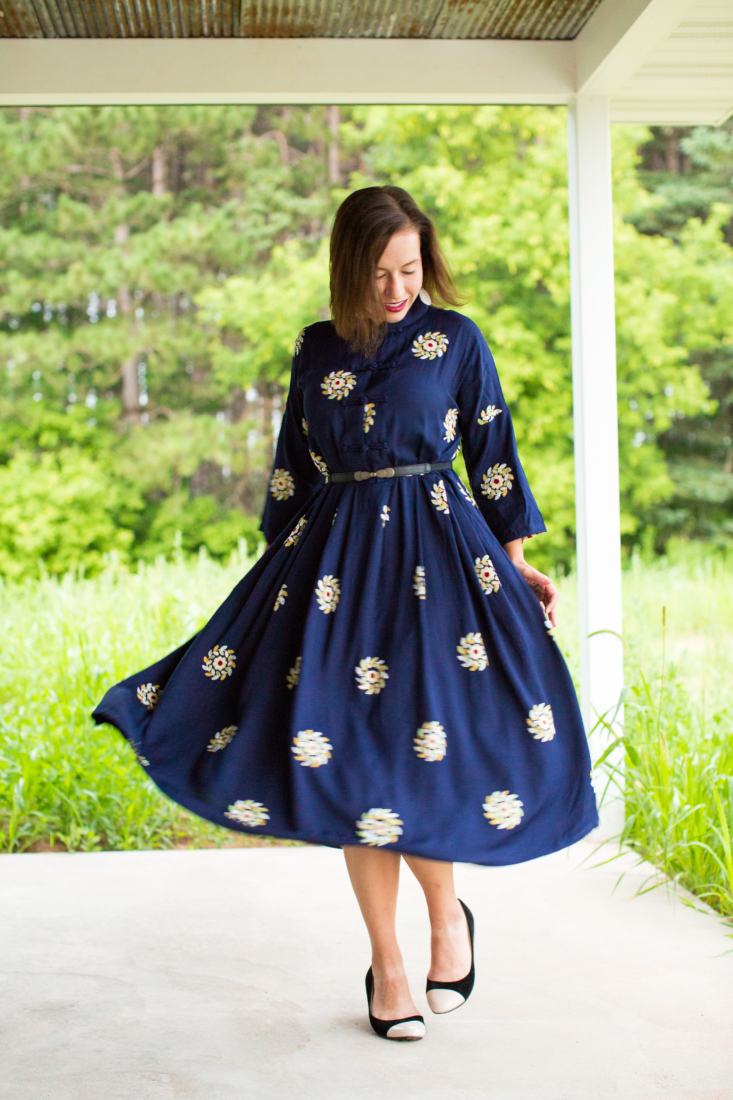 A Sleeved + High-Neckline Dress for Fall