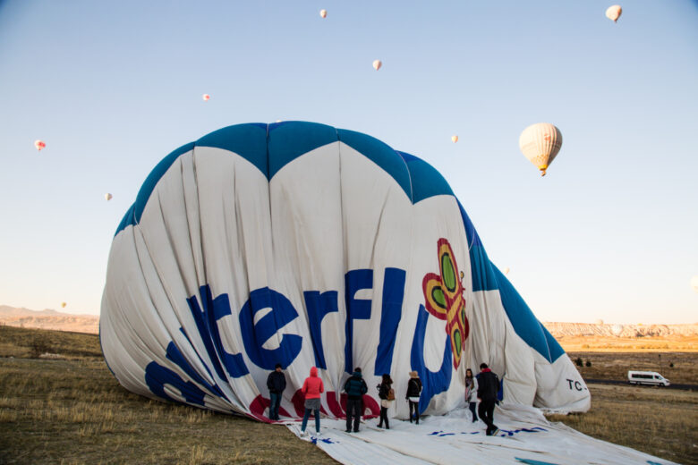 landing the balloon