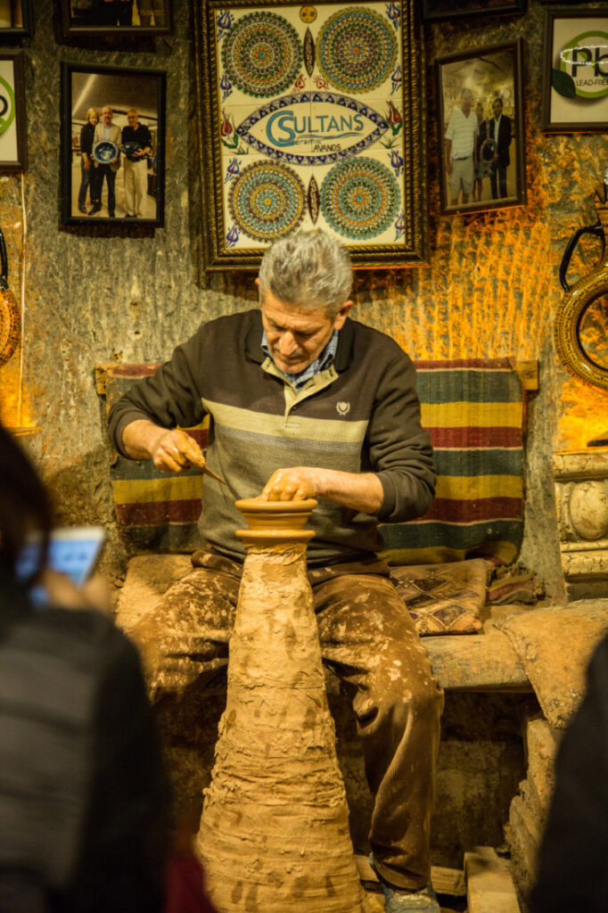 pottery demonstration in Cappadocia