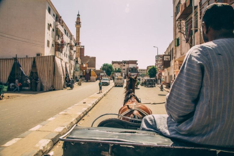 carriage ride in Edfu