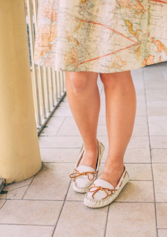 Styling Minnetonka Moccasins from a Travel Outfit to Daily Wear