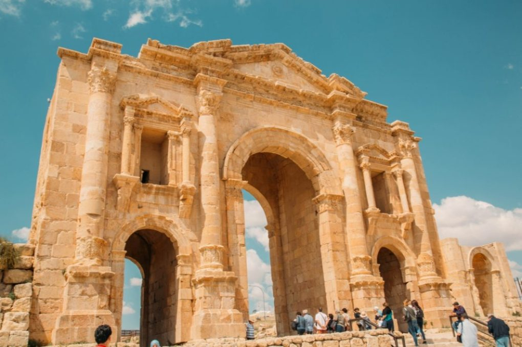 The entrance to Jerash
