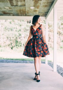 Every-Pretty Dress Review (V Neck Fit and Flare Party Dress)