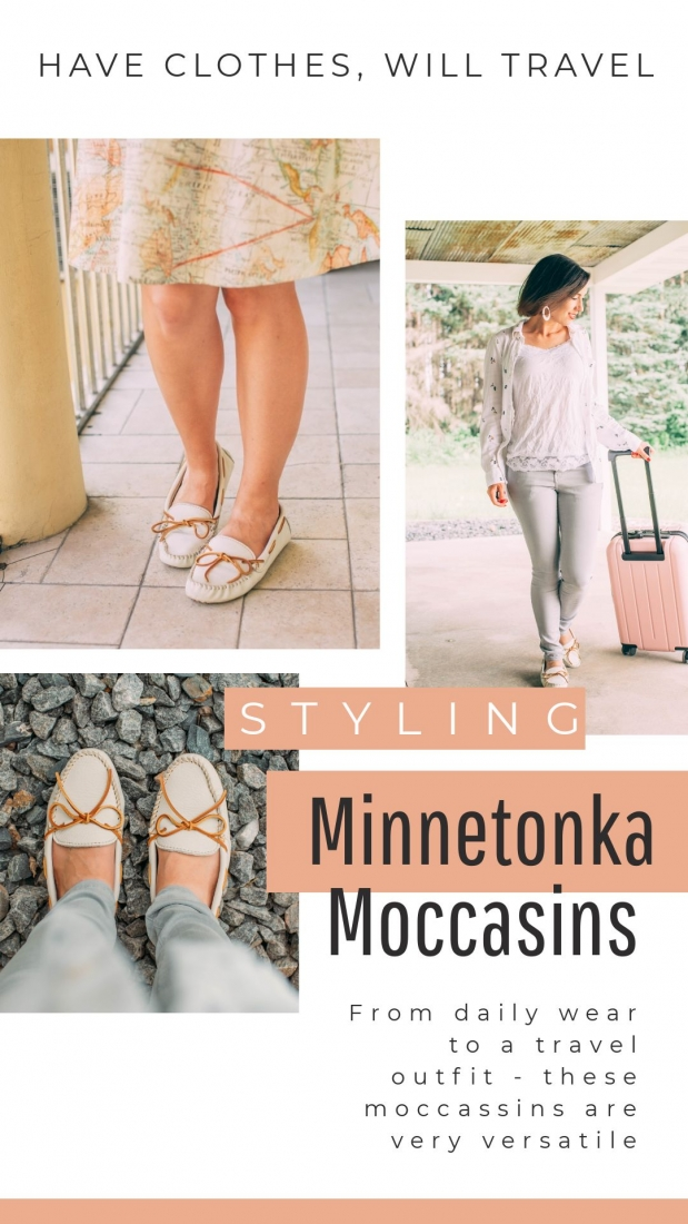Styling Minnetonka Moccasins from Daily Wear to a Travel Outfit
