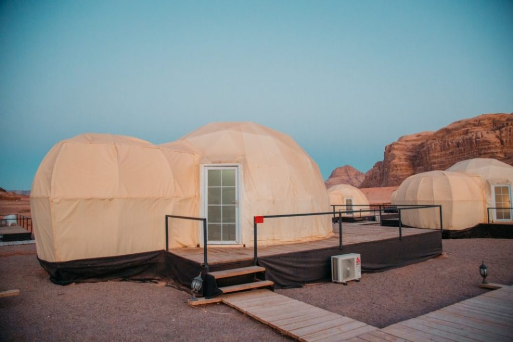 """Our """"Martian"""" tent."""