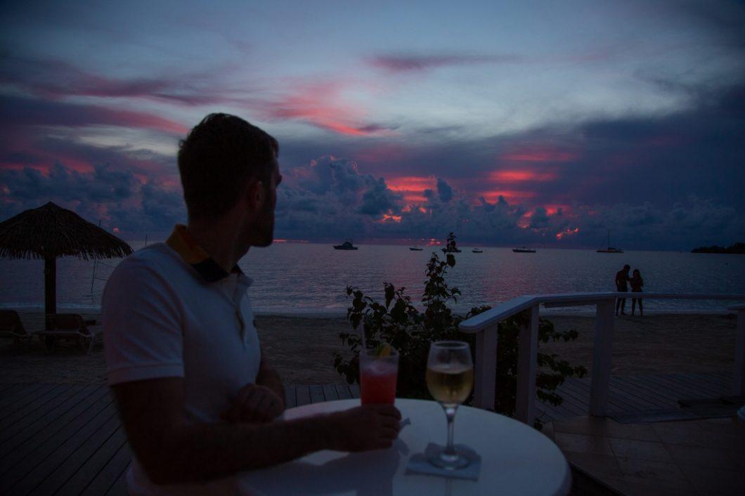 Sandals Negril sunset
