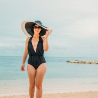 Perfect One-Piece Swimsuit for a Beach Vacation / Honeymoon