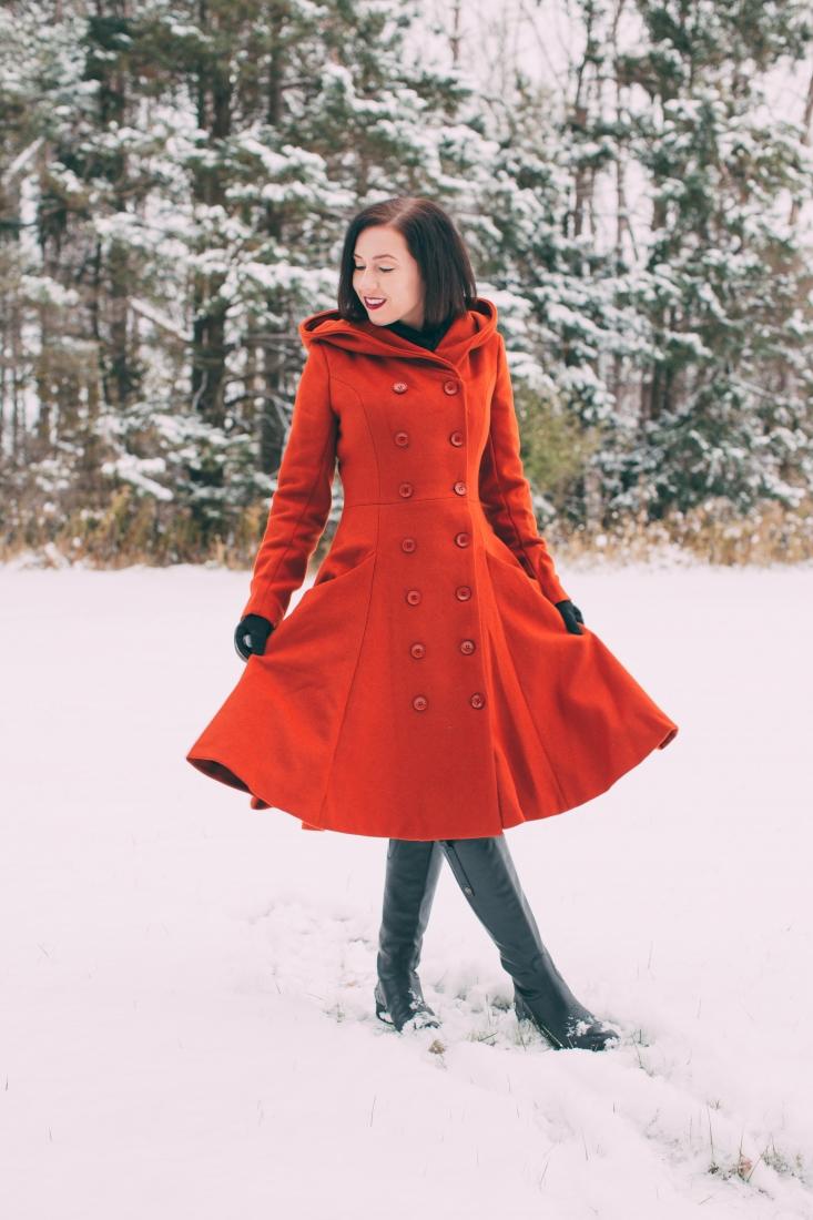 swing coat for winter