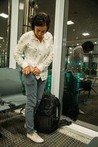 XCVI leggings while traveling