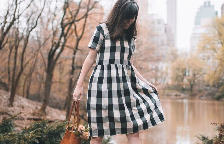 Eloise Dress - Black and White Gingham // SUSTAINABLE BRAND ALTERNATIVES TO MODCLOTH