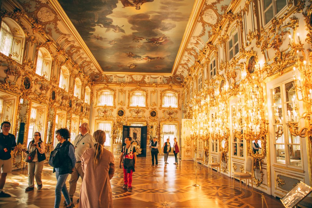 Inside the Grand Peterhof Palace.