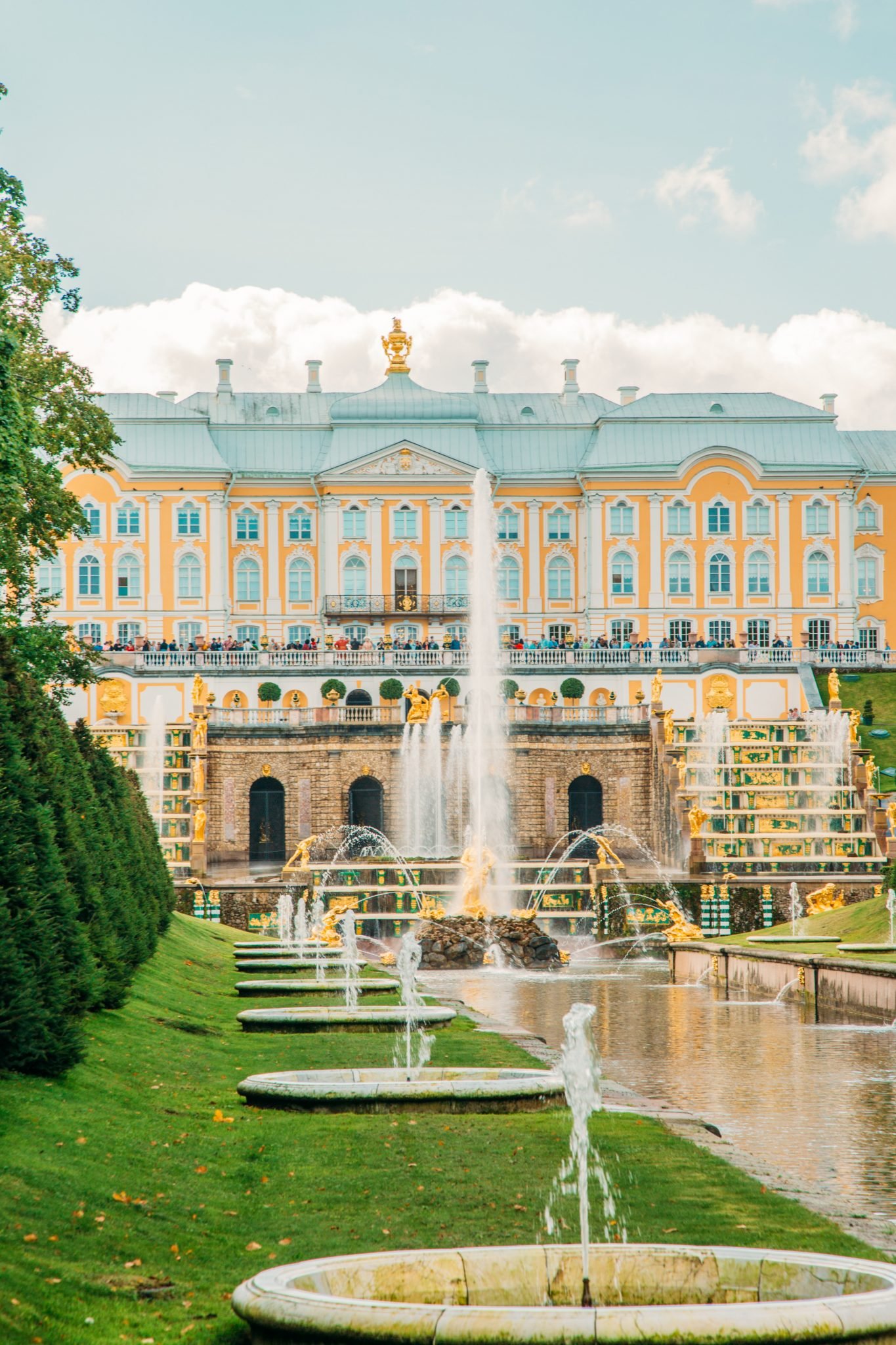 Inside the Lower Park at Peterhof Palace.