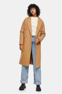 Camel Classic Double Breasted Coat