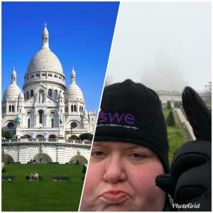 """Sacre Coeur in Paris """"Expectation vs reality"""""""