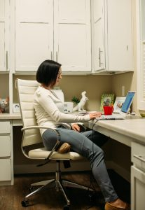 Cream cardigan and XCVI Leggings What to Wear When You Work From Home - Tips for Dressing Stylishly Yet Comfortably