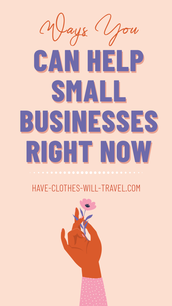 Ways to Support Small Businesses When You Can't Leave Home