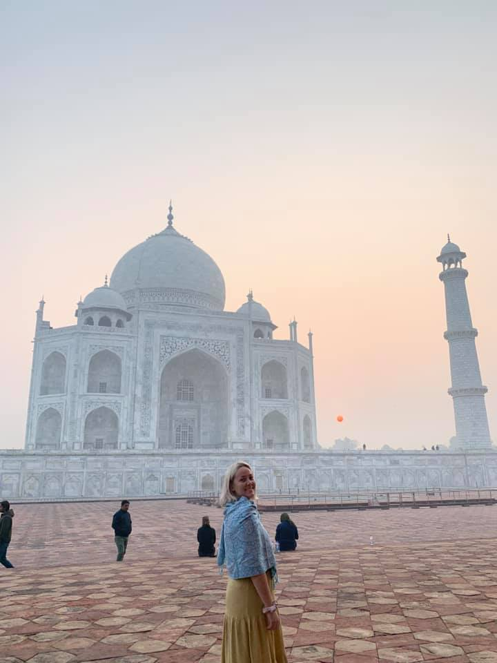 Photo of Tayla James at the Taj Mahal