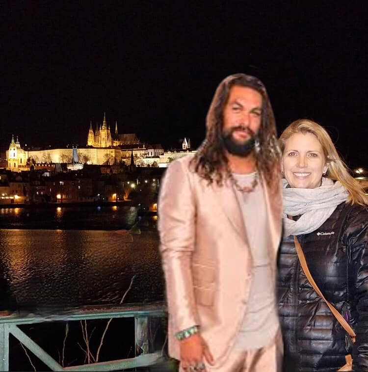 Funny Jason Momoa travel photo edit