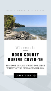Visiting Door County Wisconsin During COVID-19 what to know before you go