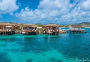 Sandals Grande St. Lucia overwater bungalows luxury resorts in the Caribbean that are all-inclusivet
