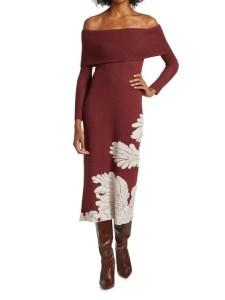 Johanna Ortiz Wonderland Knit Midi Dress