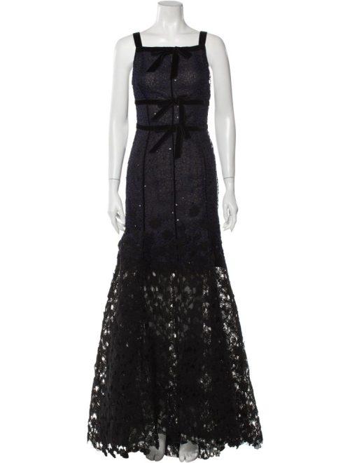 OSCAR DE LA RENTA 2015 Long Dress Size: L | US 10