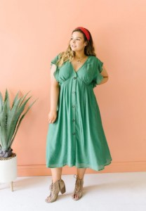 PRE-LOVED Picture This Sage Midi Dress