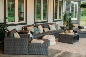 9 Piece Sofa Seating Group with Cushions