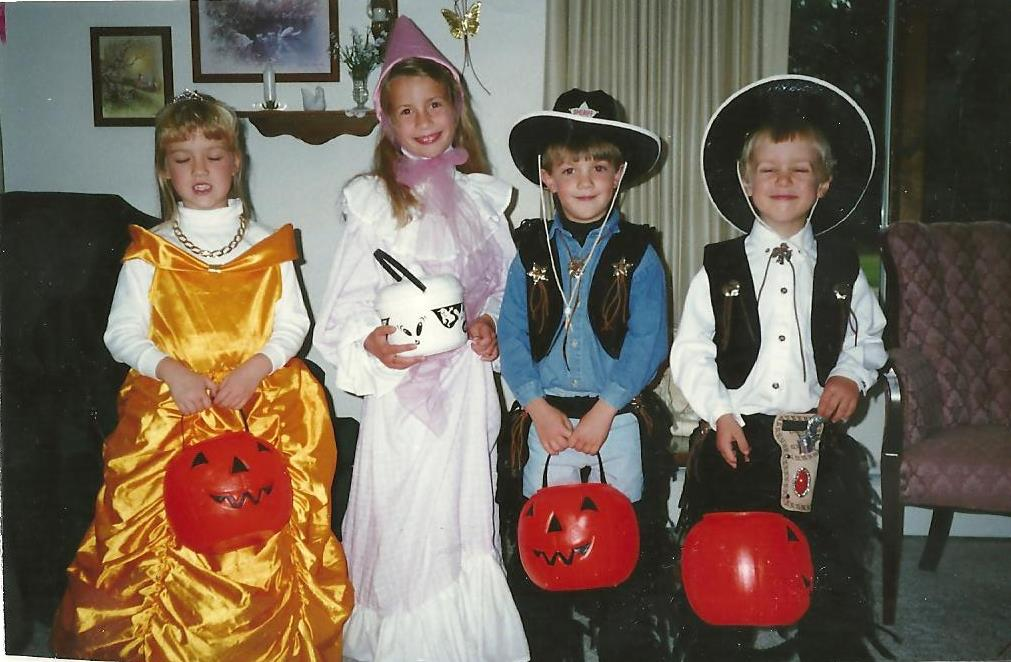 Lindsey of Have Clothes, Will Travel dressed up for Halloween as a princess when she is a Kid